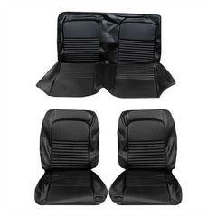 1967 mustang coupe black standard upholstery kit