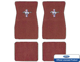1964 1965 1966 19671968 ford mustang embroidered carpet mats emberglow