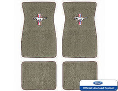 1964 1965 1966 1967 1968 ford mustang embroidered carpet mats ivy gold