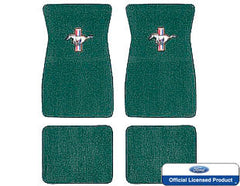 1964 1965 1966 1967 1968 ford mustang embroidered carpet mats dark green