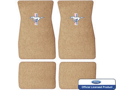 1964 1965 1966 1967 1968 ford mustang embroidered carpet mats saddle