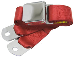 1964-1973 ford mustang bright red seat belt