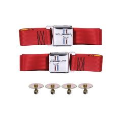 1964 -1966 1967-1968 1969 1970 -1973 ford mustang bright red seat belts new with logo