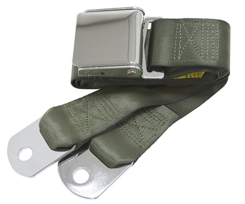 1964-1973 ford mustang green seat belts