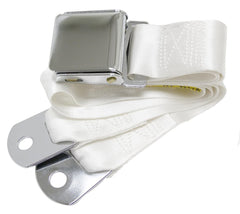 1964-1973 ford mustang white seat belt