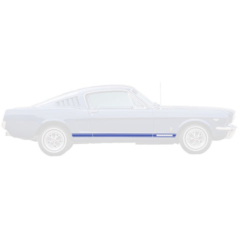 1965 1966 ford mustang gt stripe blue
