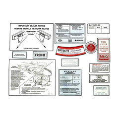 1965 ford mustang decal kit