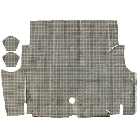 1967 1968 ford mustang coupe & convertible plaid trunk mat