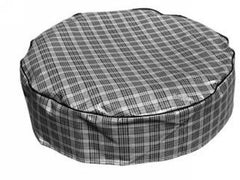 1964-1973 ford mustang 14 inch plaid tyre cover