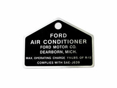 1964 1965 1966 1967 1968 1969 1970 ford mustang air con tag