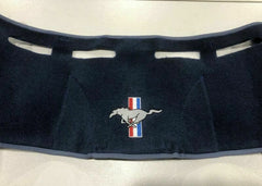 1969 1970 mustang blue dash mat with pony logo