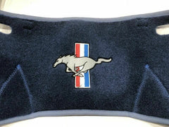 1967 1968 mustang blue dash mat with pony logo