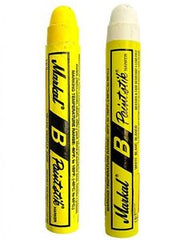 white and yellow markal sticks
