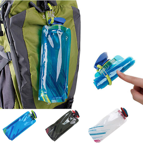 Flask Foldable Water Bottle/Drink Bag Pouch Outdoor Flask