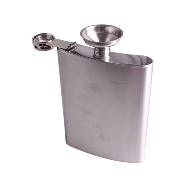 Flask 18oz Stainless Steel With Screw Cap and Funnel