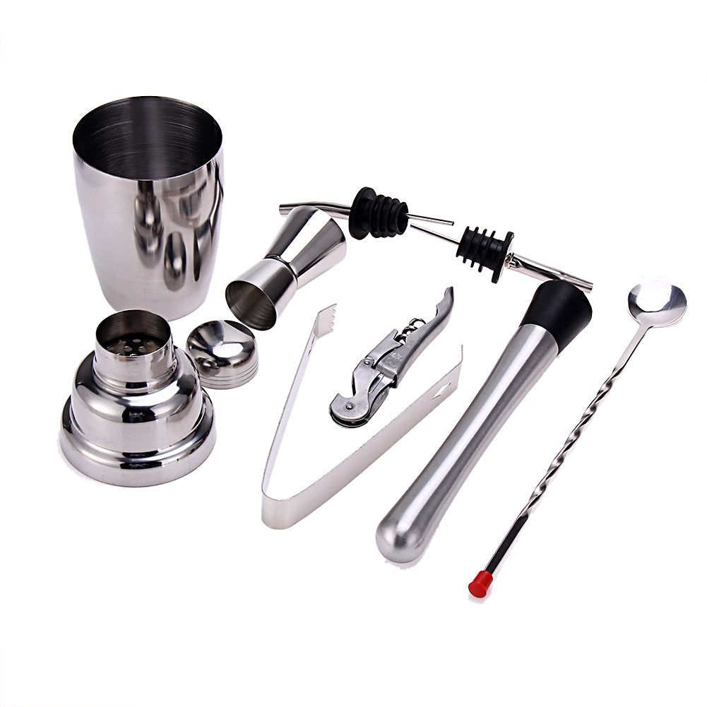 Cocktail Shaker Set 8 Pcs 350ml Stainless Steel