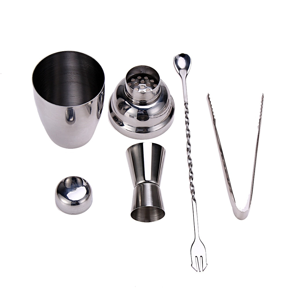 Cocktail Shaker Mixer Set with Jigger Ice Tong