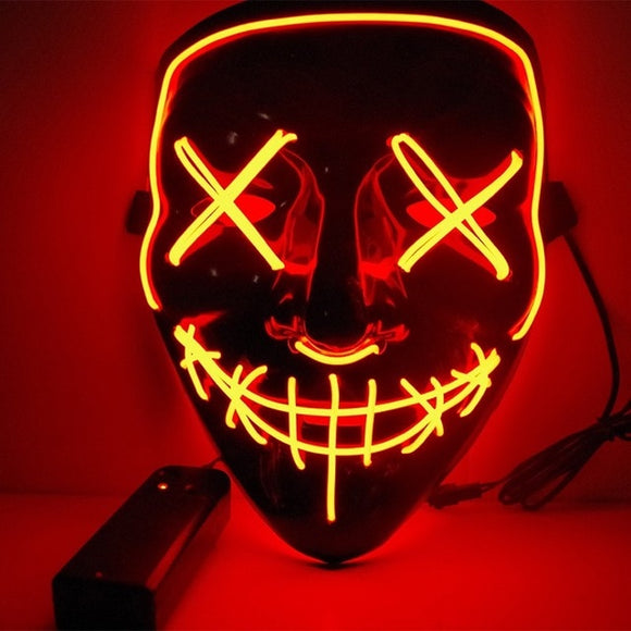 LED Light Up Mask Halloween Party Masquerade Mardi Gras
