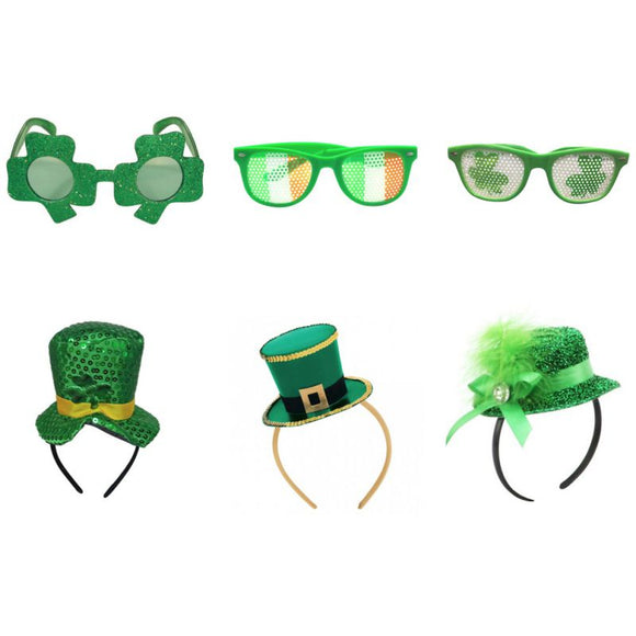 Lucky Of The irish St. Patricks Day Green Hat Headbands