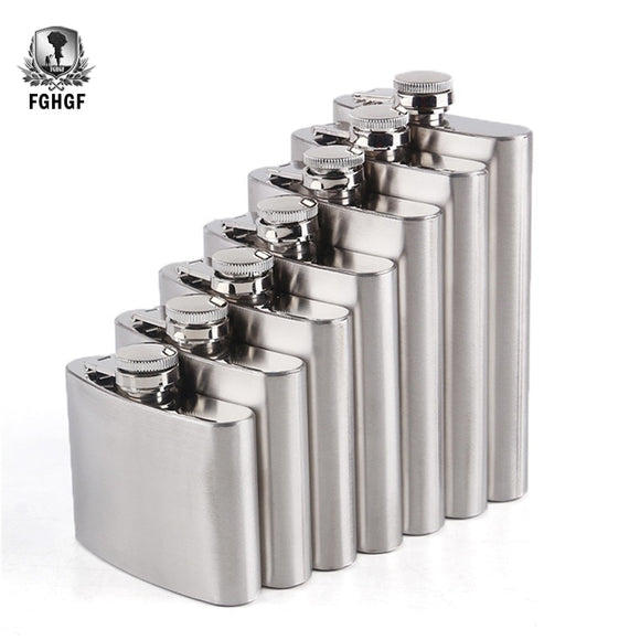 High Quality Stainless Steel Hip Flask Alcohol Bottle Pocket Set
