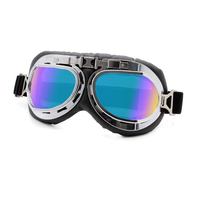 Motorcycle Aviator Goggles Glasses