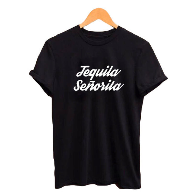Tequila Senorita Spanish Language Tee Shirt