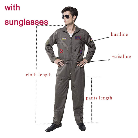 Pilot Aviator Top Gun Costume