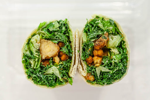 Caesar Wrap with Blackened Tempeh