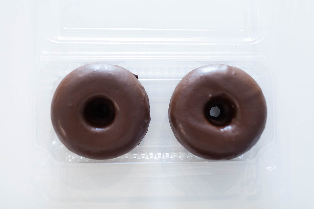 2x Double Chocolate Vegan Donut