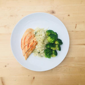 Caulirice Entree with Chicken - DF | GF - Calories: 430 | Protein: 50g | Fat: 19g | Carbohydrates: 16g