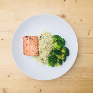 Caulirice Entree with Salmon - DF | GF