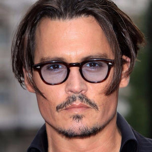 2018 Fashion Johnny Depp Style Round Sunglasses Clear Tinted Lens Brand Design Party Show Sun Glasses Oculos De Sol