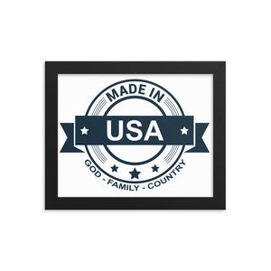 Made in USA GFC Framed poster