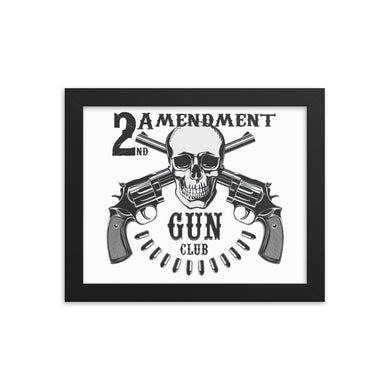 2A Gun Club Framed poster