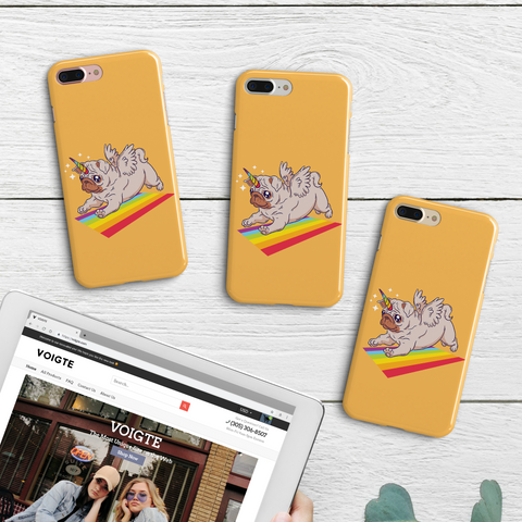 Unicorn Pug Yoga iPhone Case