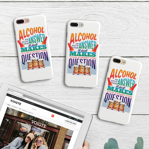 """Alc Is Not The Answer"" iPhone Case"