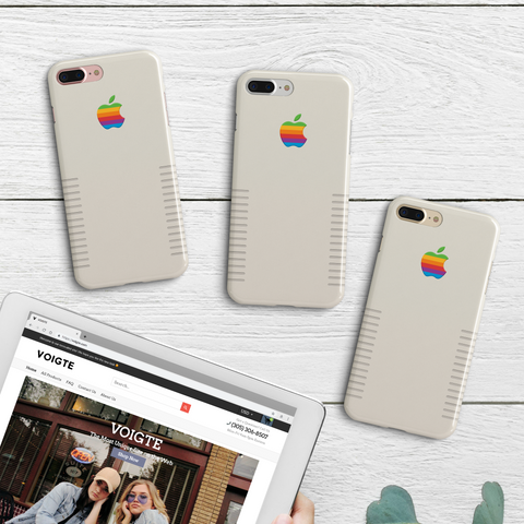 Retro Apple Logo iPhone Case