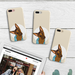 Sleepy German Shepherd iPhone Case