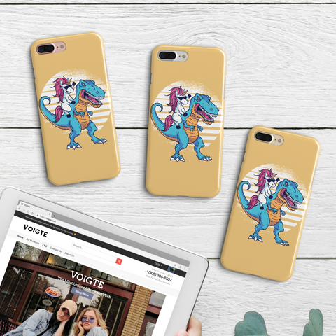 Unicorn T-Rex iPhone Case