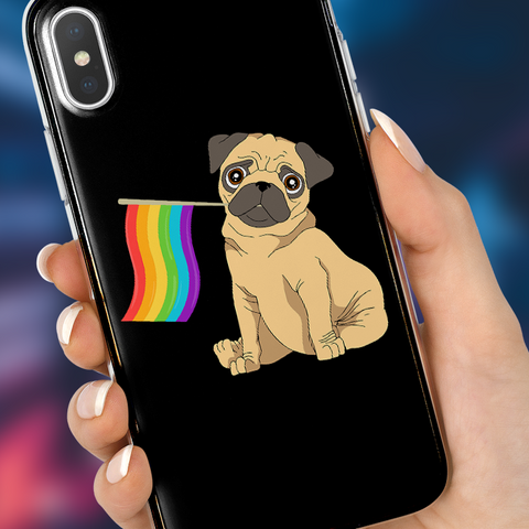 Pride Pug Phone Case