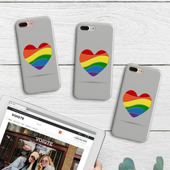 Abstract Pride Heart Phone Case