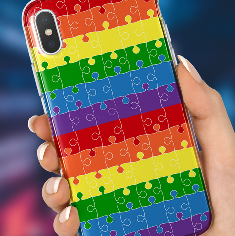 Rainbow Puzzle Phone Case