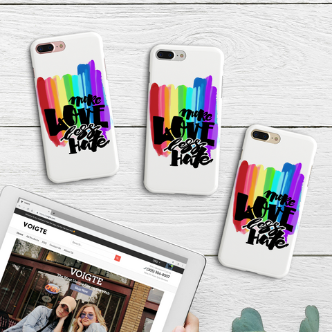 """More Love Less Hate"" Phone Case"