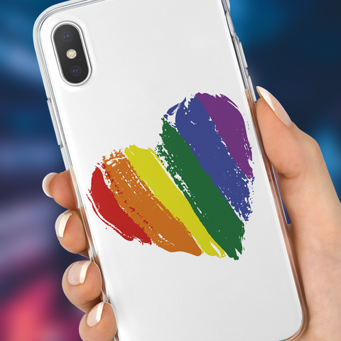 Painted Heart Phone Case