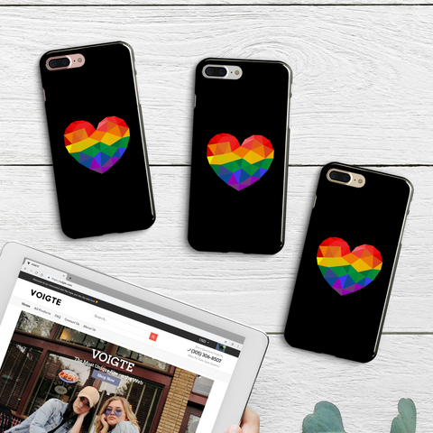 Pride Rainbow Heart Phone Case