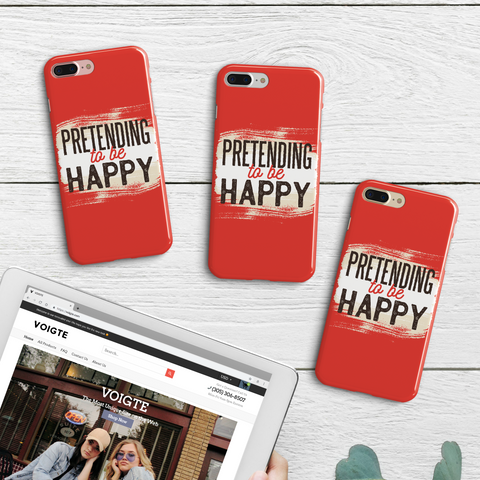 """Pretending To Be Happy"" iPhone Case"