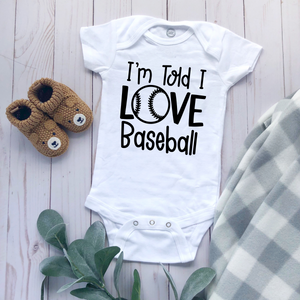 """Love Baseball"" - Baby Bodysuit"