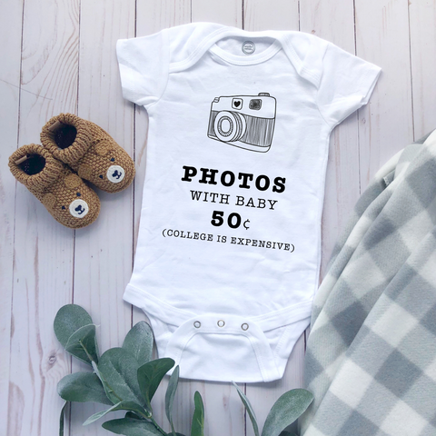 """Photos With Baby"" - Baby Bodysuit"