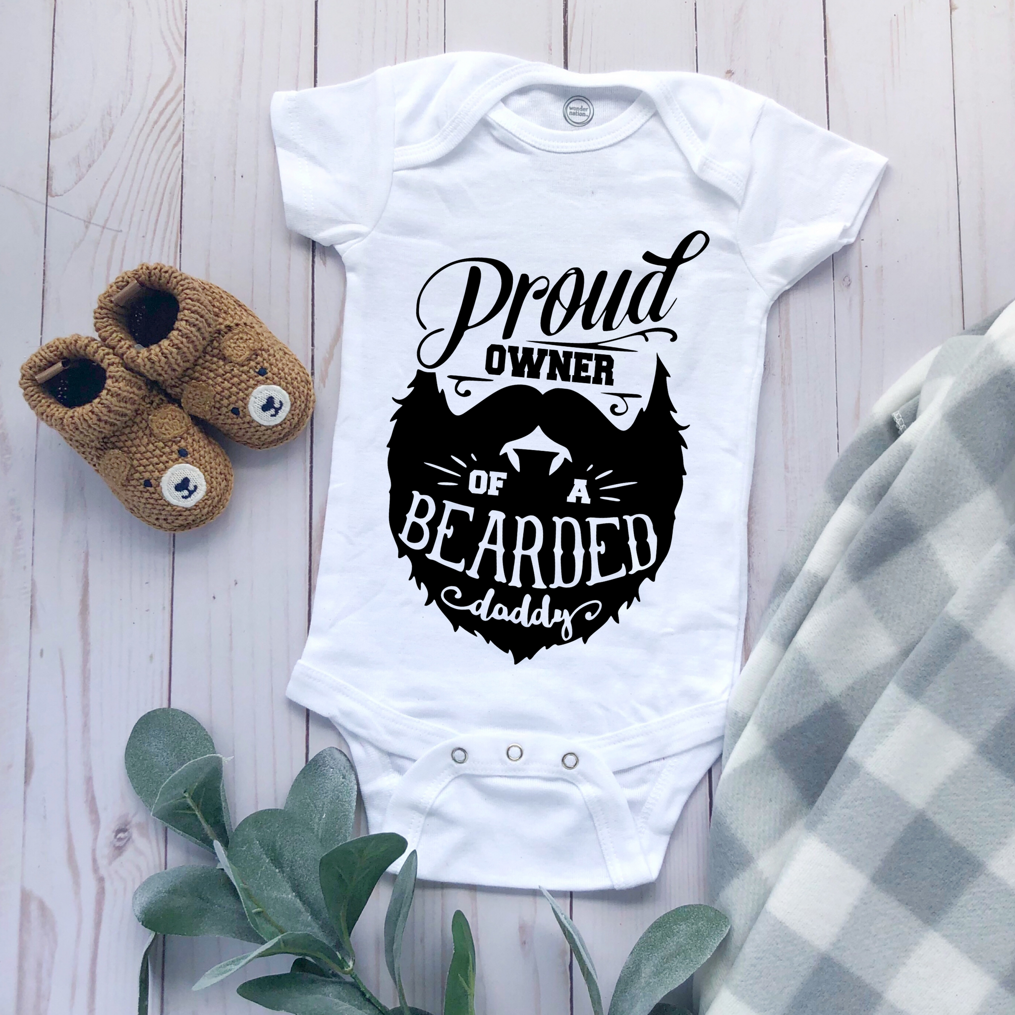 """Proud Owner of a Bearded Daddy"" - Baby Bodysuit"