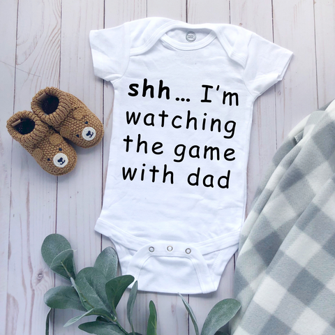 """Watching the Game"" - Baby Bodysuit"